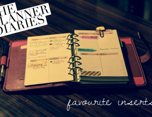 Planner Diaries - Favourite Inserts